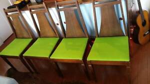 4 Older Mid-Century Modern Dining Chairs