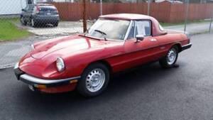 Parting a 1986 Alfa Romeo spider