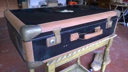 Vintage black / Tan SUITCASE – Solid and Strong Croydon North Maroondah Area Preview