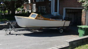 1954 Palmer Scott Fishing Boat with Motor and Trailer