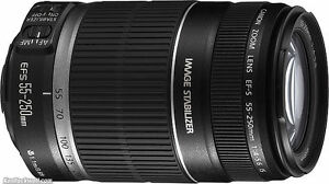 Canon lens EFS 55-250 IS (Warranty 1 year) New