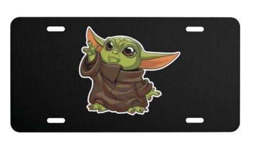 Baby Yoda  Aluminum license plate