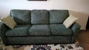 Comfy Green Microsuede Sofa Delivery Available