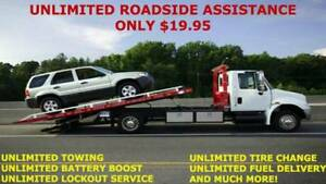 Unlimited 24/7 Emergency Roadside Assistance for 19.95Month