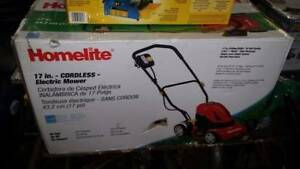 LIKE NEW Homelite Cordless Lawnmower Electric $239