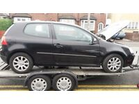 vw golf mk5 2005-2009 breaking parts