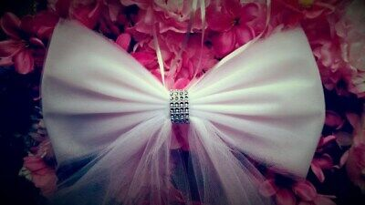 Tulle Pew Bows Wedding Pew Bows Aisle Decor Wedding Bow (Aisle Decorations)