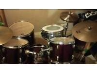 Complete 5 piece CB drum kit with add ons