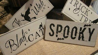 Halloween Treat Table (Halloween Decoration Witch Trick or Treat Black Cat Spooky Sign Table Top)