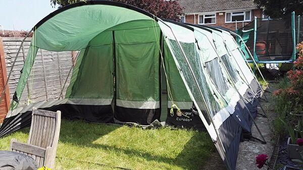 Hi Gear Corado 6 Tent with Porch extension Carpet and Footprint & Hi Gear Corado 6 Tent with Porch extension Carpet and Footprint ...
