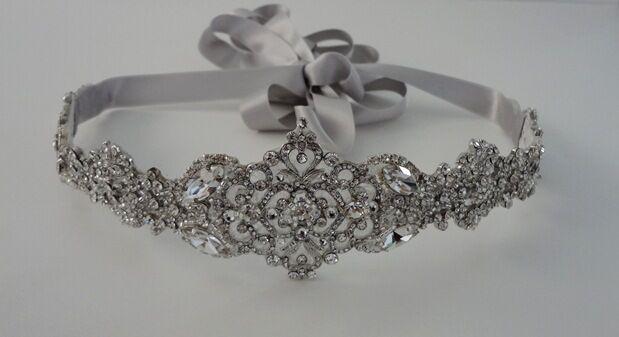 Wedding Crystal Embellished Sash Belt