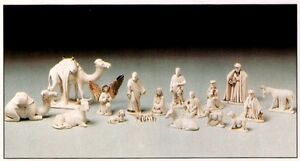 Ceramic Bisque Christmas Nativity Set Ready to Paint