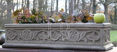 --Pflanzkasten CAMBRIDGE LTR18B Sandstein Blumenkasten 80 cm frostfest 33 kg