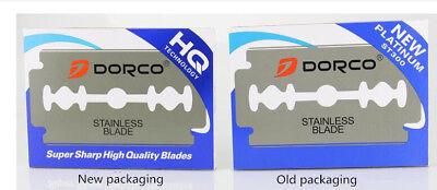 - Dorco Double Edge Razor Blades-Blue ST-300-Stainless Blades 100pcs