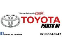 Toyota Parts NI for spares damaged export salvage parts alloys tyres used and new