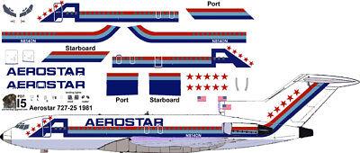Aerostar Boeing 727-100 decals for Airfix 1/144 kit