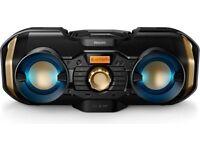 Philips px840t/05 CD Sound Machine With Bluetooth, LED Lights, FM/AM Radio