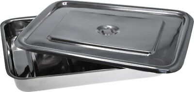 Stainless Steel Surgical Instrument Tray With Lid 12 X 10 X 2 Free Shipping