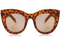 Amelie Tortoiseshell Chunky Kitten Sunglasses by Skinnydip - Brown