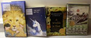 Chronicles of Narnia (2 books), The Hobbit, A Wrinkle in Time