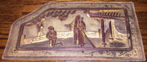 Antique Chinese Hand Carved Door Panels - Gold Painted