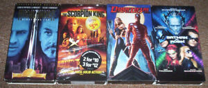 4 VHS(Video Cassettes Tapes)ADVENTURE/FANTASY/SCI FI MOVIES