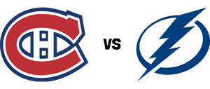 CANADIENS VS TAMPA BAY (REDS/CLUB DESJARDINS) THURS .APRIL. 2ND.