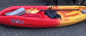 Tribe Perception 11.5 solo sit-on-top kayak with extras