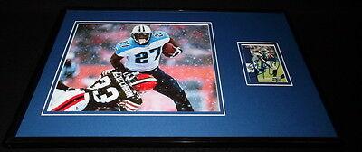 Eddie George Signed Framed 11x17 Photo Display Titans Ohio State (Eddie George Framed Photo)