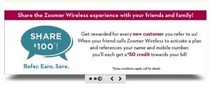 Free Zoomer Wireless $25 Referral Credit