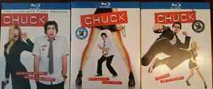 CHUCK BLU-RAY SEASONS 1 - 2 - 3.
