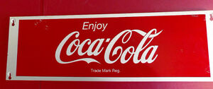 Two large Vintage Beverage signs - Coca Cola & Orange Fanta