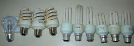 Job lot low energy bulbs x12