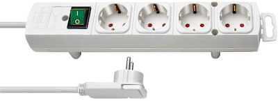 Brennenstuhl Comfort-Line Plus, Steckdosenleiste 4-fach (mit Flachstecker, 2m