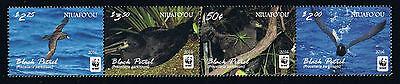 Niuafo'ou - 2016 WWF Bird - Black Petrel Postage Stamp Strip