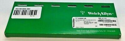 Box Of 6 - Welch Allyn 901000 3.5v Halogen Lamp - New