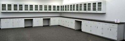 39 Base 36 Upper Cabinets Laboratory Furniture W Counter Tops - R-e1-507