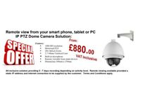 Single PTZ Camera Solution fully controlled from your mobile phone