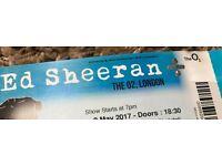 Ed Sheeran Ticket 03 May 2017 London O2 (The Deck)