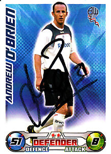 Bolton-Wanderers-F-C-Andy-OBrien-Hand-Signed-08-09-Championship-Match-Attax
