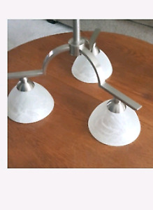 3 frosted Glass light Shades