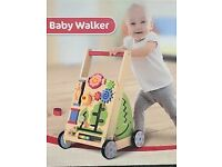 Wooden baby walker activity centre