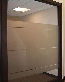 """Frosted glass decal 45ft x 4ft (540"""" x 48"""") VVIVID furniture office privacy film"""