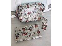 Cath kidston cowboys diaper nappy bag w changing pad bottle bag