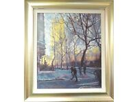 Rolf Harris Autumn Sunlight Westminster Print Giclee canvas 65cm by 55cm 165/175