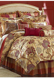 Rose Tree Shenandoah Queen Comforter Set 4 Pieces New In