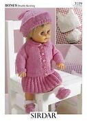 Knitted Baby Doll Clothes