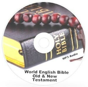 THE HOLY BIBLE - Old & New Testament Audio MP3 Files on DVD