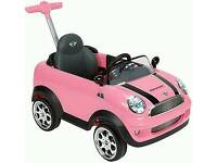 Pink push car mini for toddlers