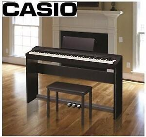 NEW CASIO DIGITAL PIANO KIT PX-160CSSPCB 200615256 With Pedal Kit, Matching Stand, Piano Bench PRIVIA PX-160